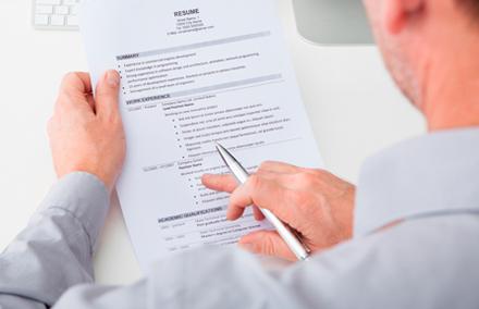 selezione e preparazione delle referenze il cv
